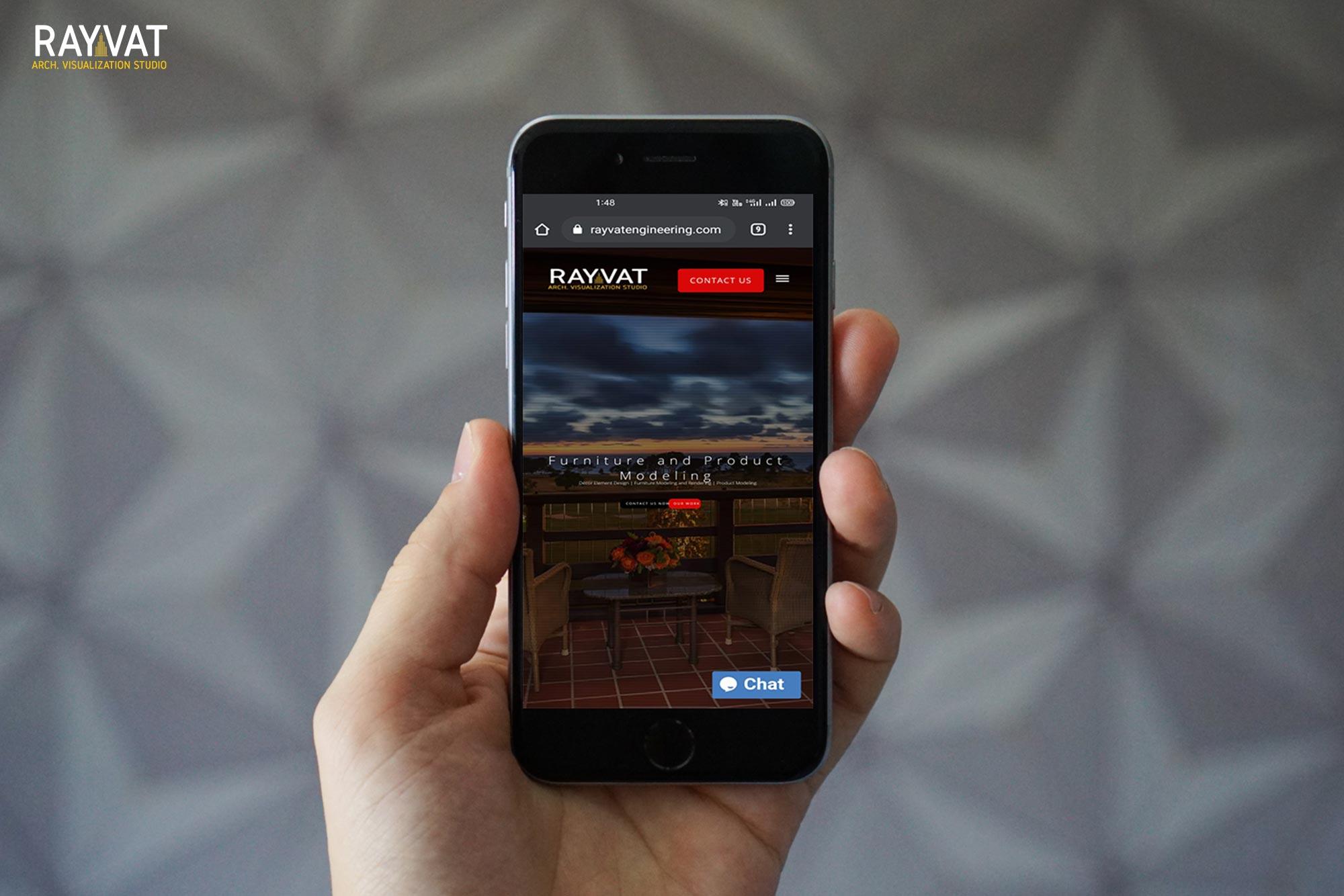 wesbite mobile screen short