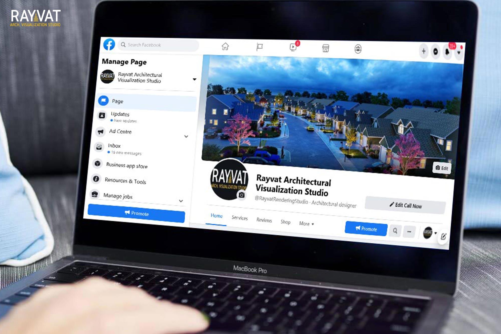 Facebook page screen short