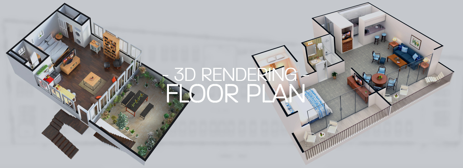3D Rendering Floor Plan