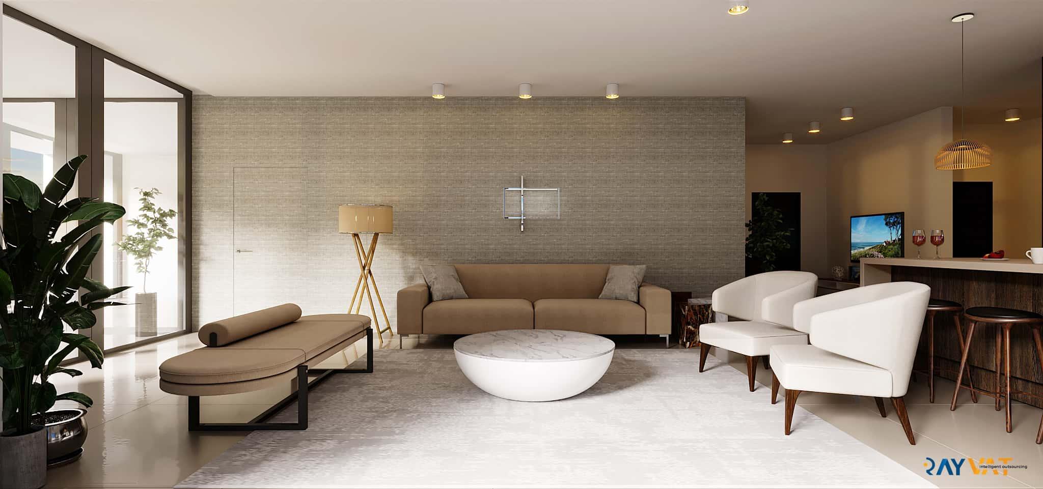 Modern 3D Interior Rendering Services