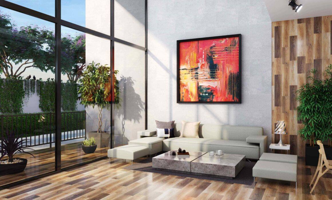 'STYLE WITH SIMPLICITY' – 3D LIVING ROOM RENDERING, VANCOUVER, BRITIS