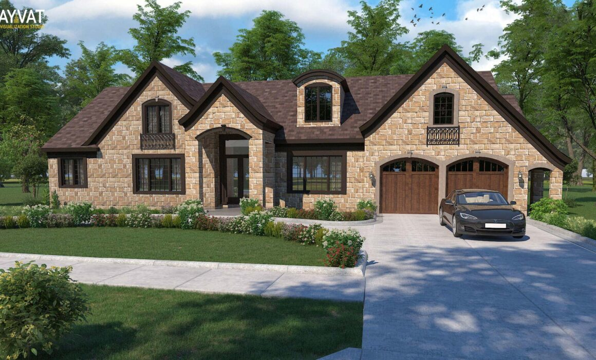 'HOME SWEET HOME' – 3D EXTERIOR RENDERING OF HOUSE, DEARBORN, MI