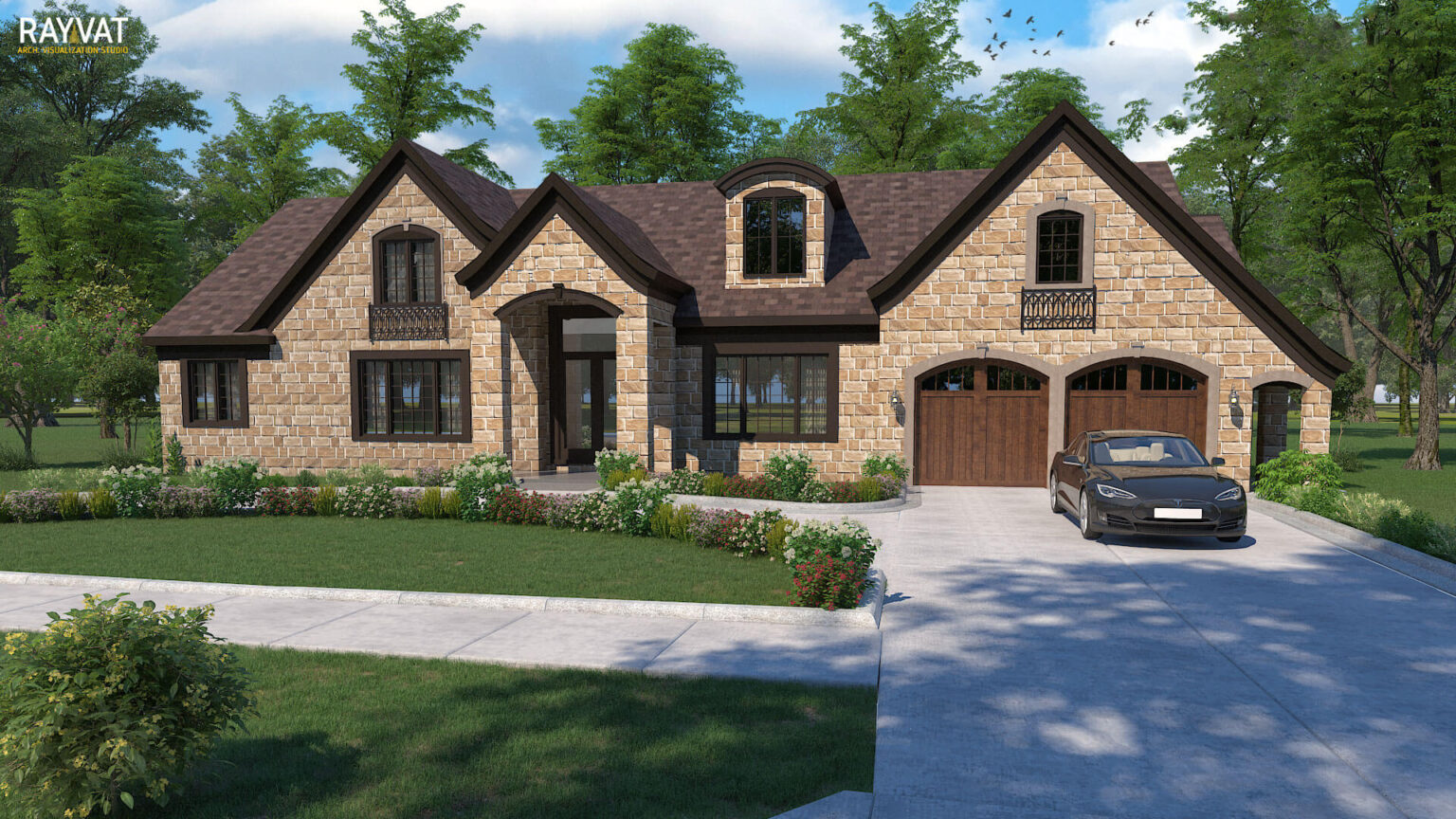 11. 'HOME SWEET HOME' - 3D EXTERIOR RENDERING OF HOUSE, DEARBORN, MI