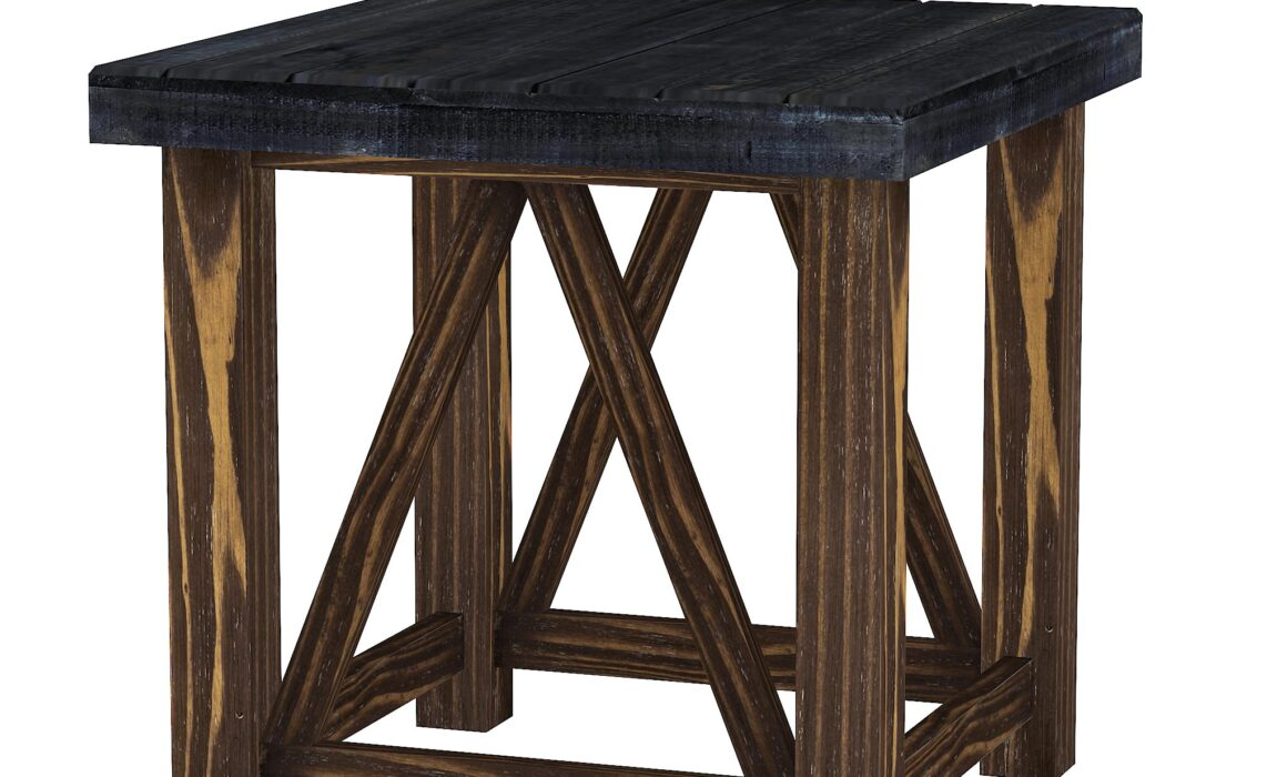 3D MODELING AND RENDERING OF FURNITURE – SPENCER END TABLE