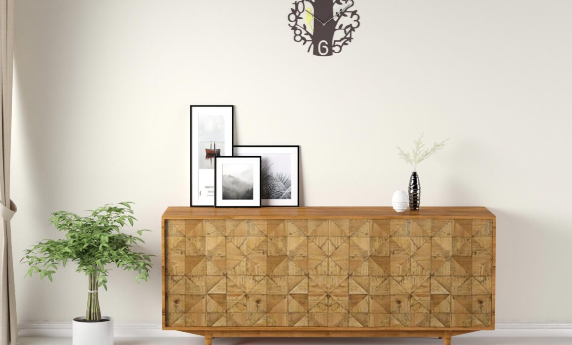 3D VIGNETTE RENDERING OF WOODEN FURNITURE – CONSOLE TABLE