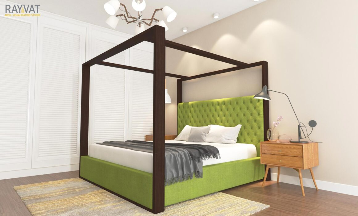 3D FURNITURE RENDERING – CANOPY BED