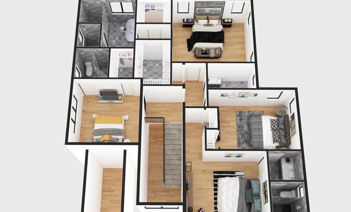 3D FUNTIONAL GROUND FLOOR PLAN – 27 CLARK STREET, CRESSKILL, NEW JERSEY