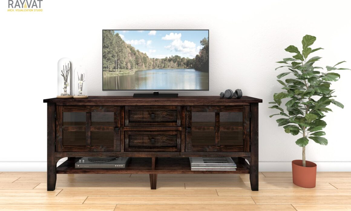 3D RENDERING OF FURNITURE – RODEO MEDIA STAND