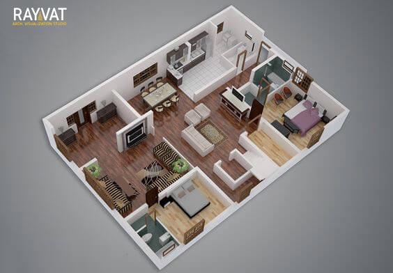 BEDROOM-3D-FLOOR-PLAN-AJMAN-UAE-