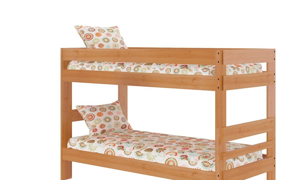 3D BEDROOM FURNITURE RENDERING – KIDS BUNK BED