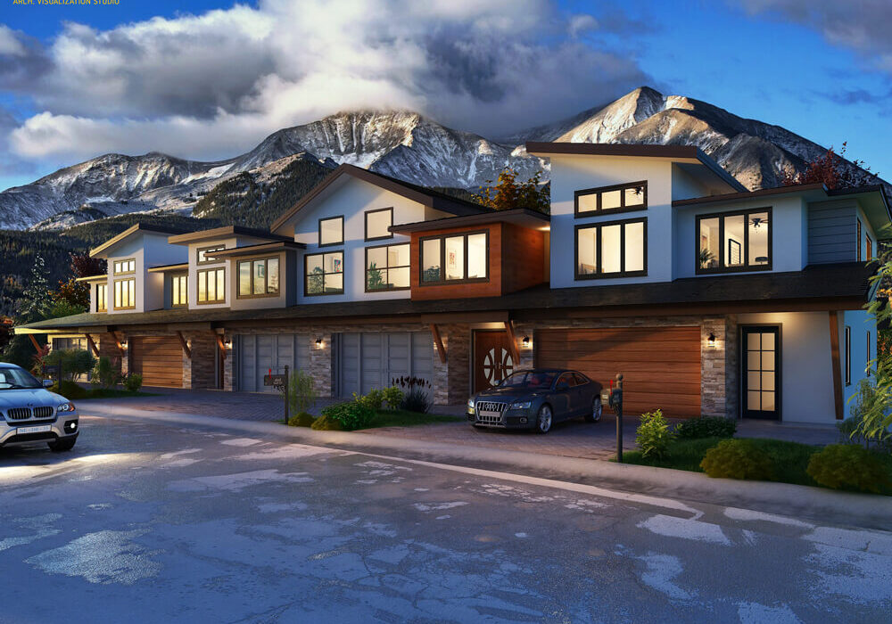 'ABODE ON THE HILLS' – 3D PERSPECTIVE RENDERING, COLORADO