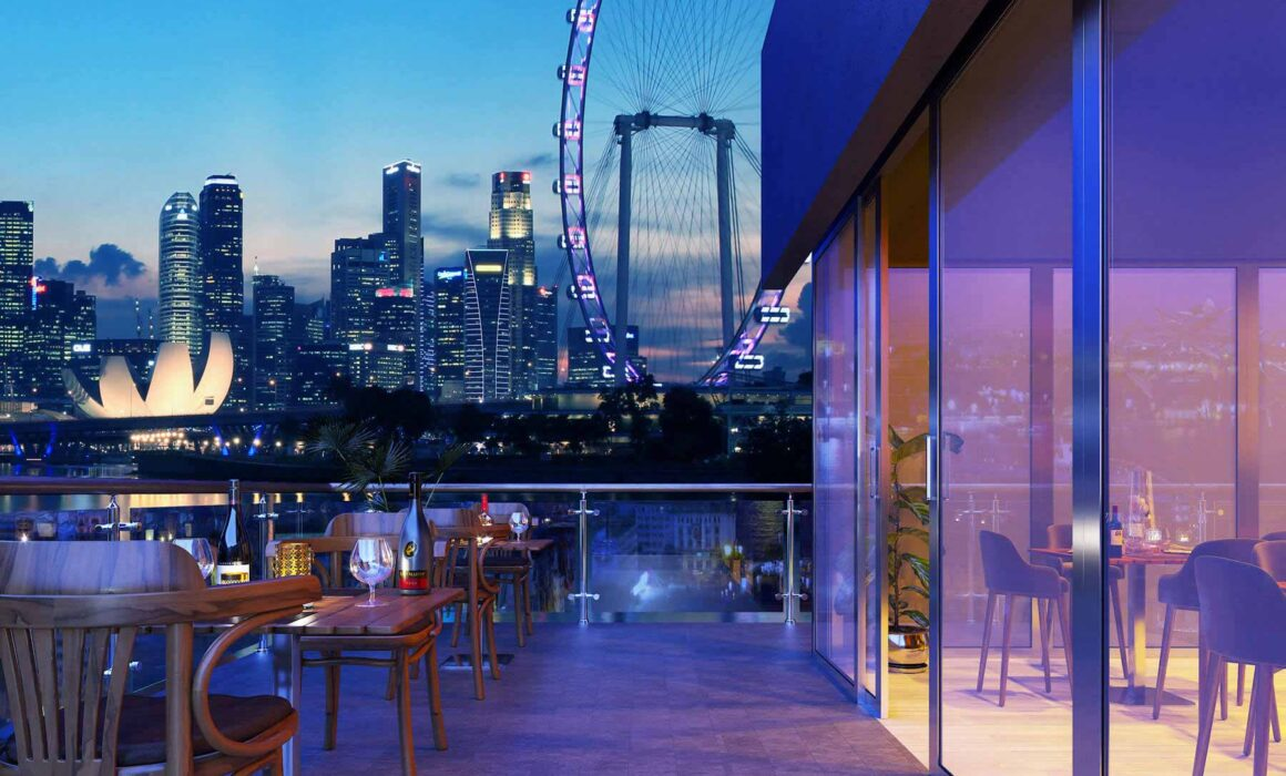 'BEAUTIFUL EVENING AT ROOFTOP' – 3D RENDERING OF CASSON SQUARE ROOFTOP, LONDON
