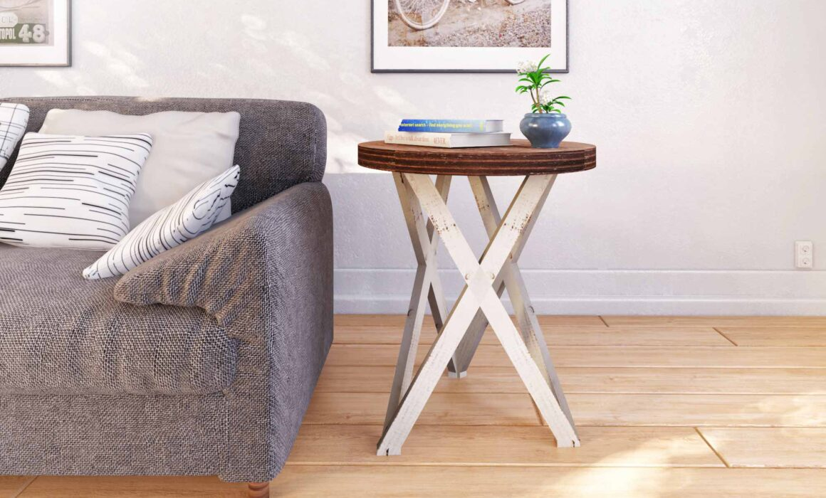 3D RENDERING OF FURNITURE ELEMENTS – GALAXY END TABLE