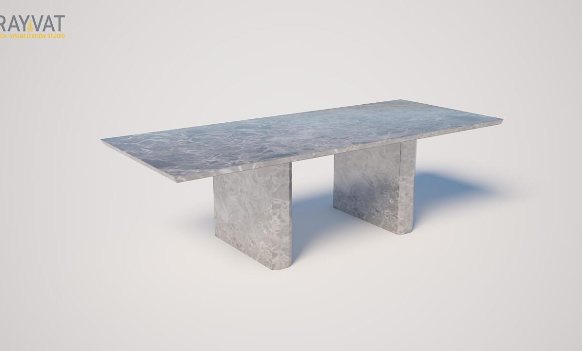 3D MODELING AND RENDERING OF TABLE – OUTDOOR DINING TABLE