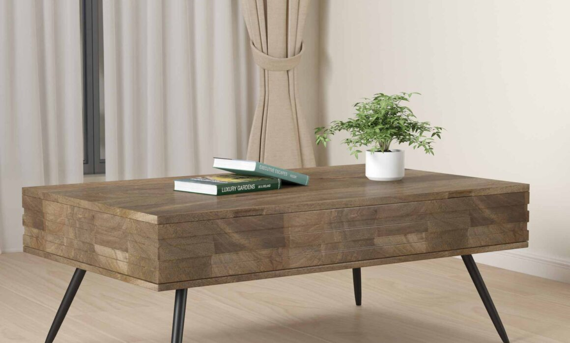 3D WOODEN FURNITURE RENDERING – COFFEE TABLE