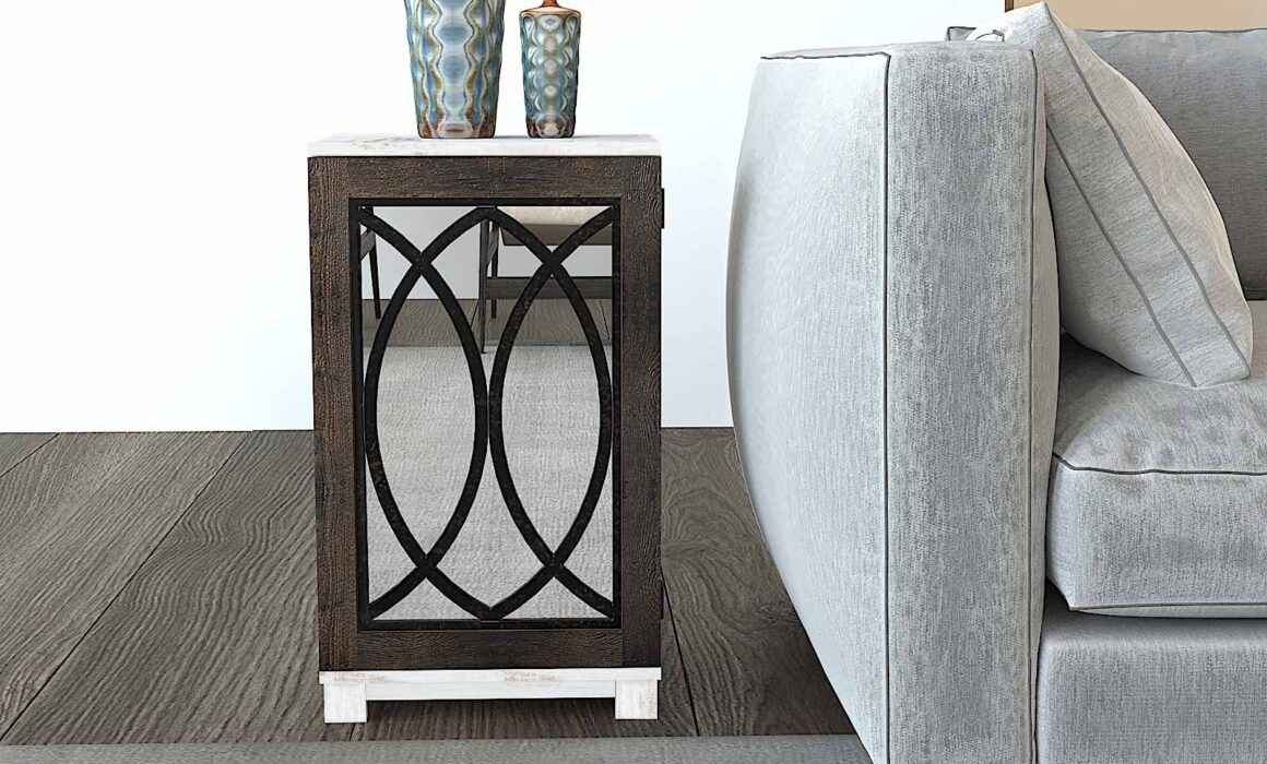 3D SIDE TABLE RENDERING – NASH SIDE TABLE WITH MIRROR