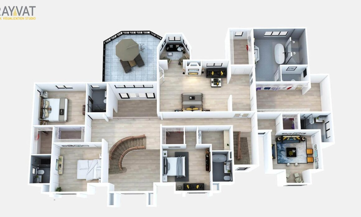 3D SECOND FLOOR PLAN – 38 ORCHARD, CRESSKILL, NEW JERSEY