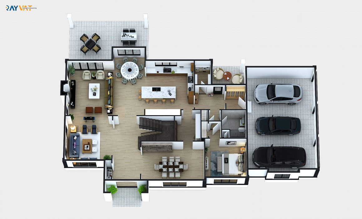 Ground Floor 3D Floor Plan