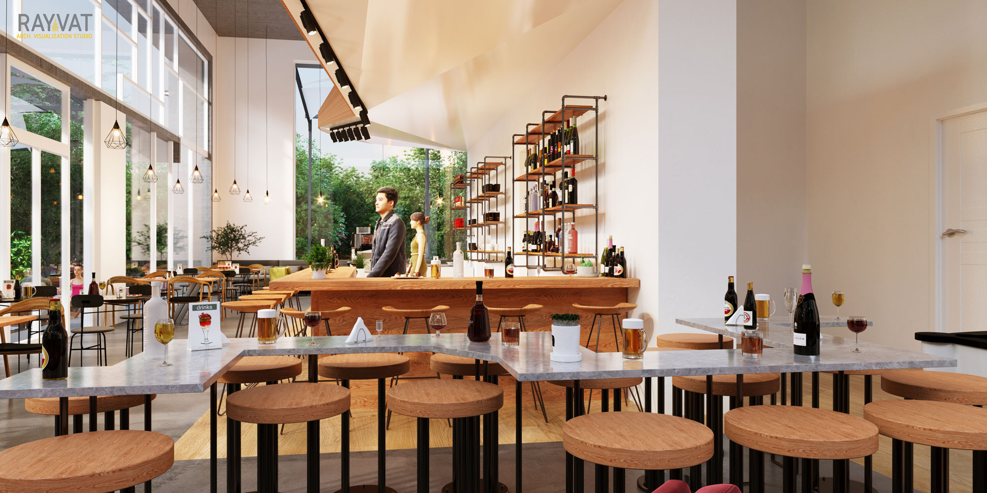 3D-Perspective-of-Cafe-New-York