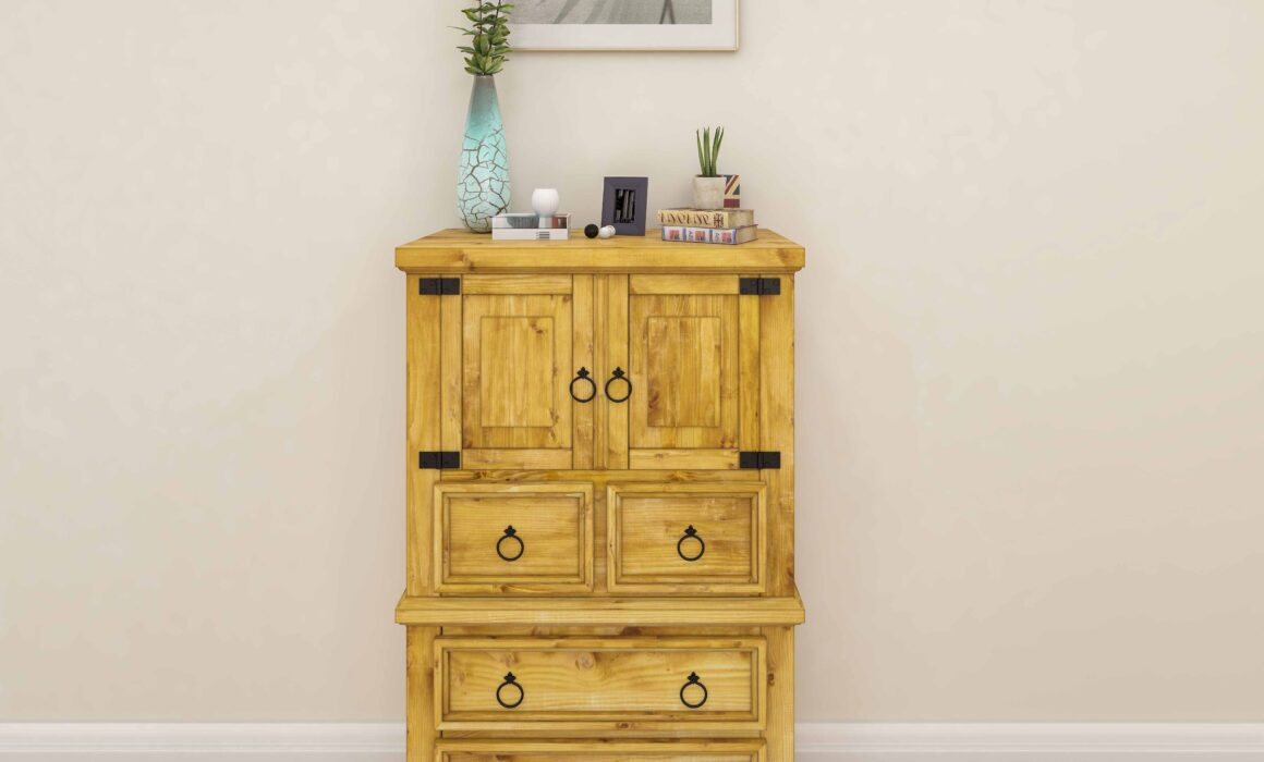 3D BEDROOM FURNITURE MODELING AND RENDERING – RUSTIC CHEST