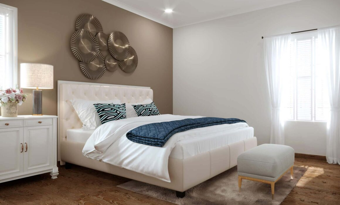 'SOOTHING SIMPLICITY' – 3D RENDERING OF MODERN GUEST BEDROOM, NEW YORK, USA