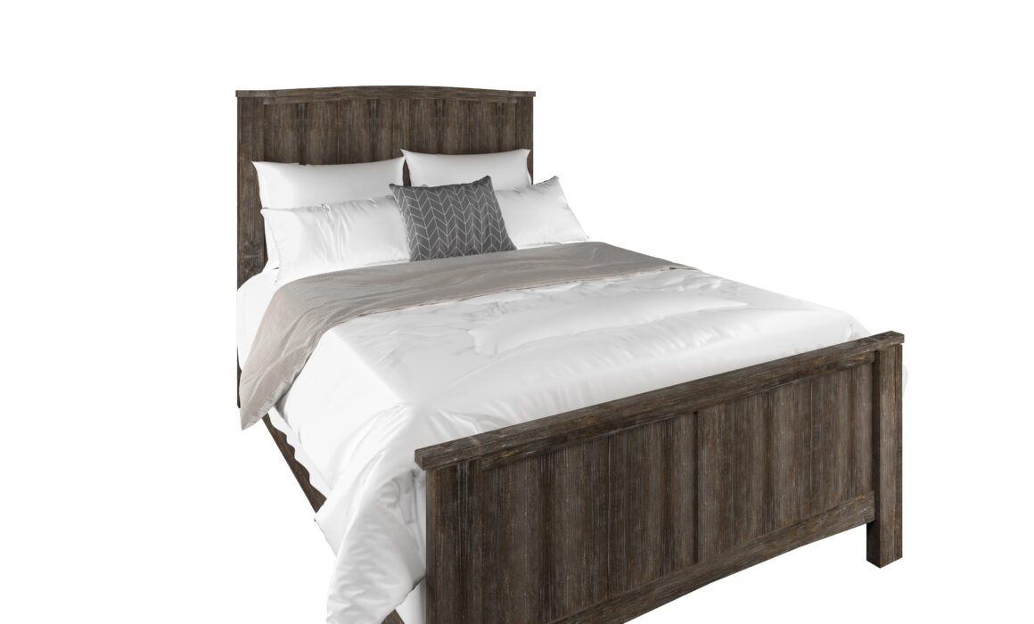 3D RENDERING OF RUSTIC STYLE BED – RUSTIC BARNWOOD BED