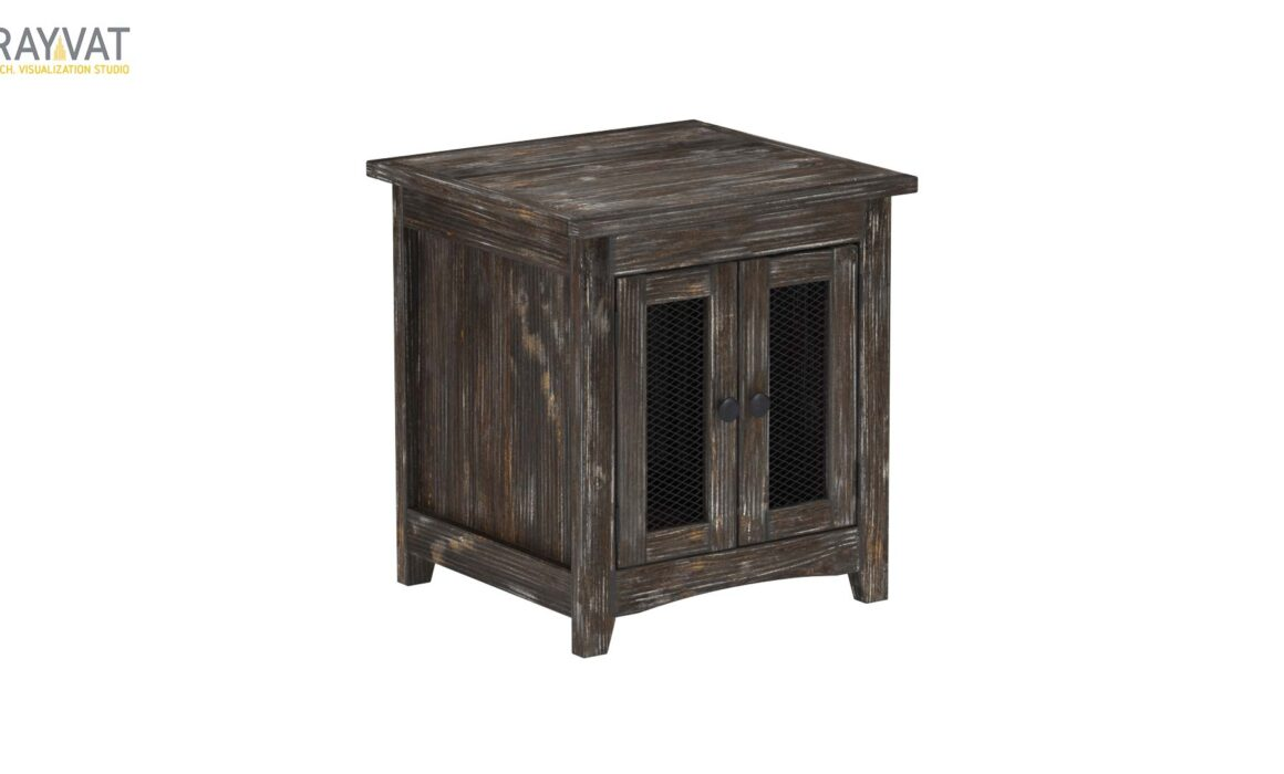 3D END TABLE FOR LIVING ROOM – MESH END TABLE