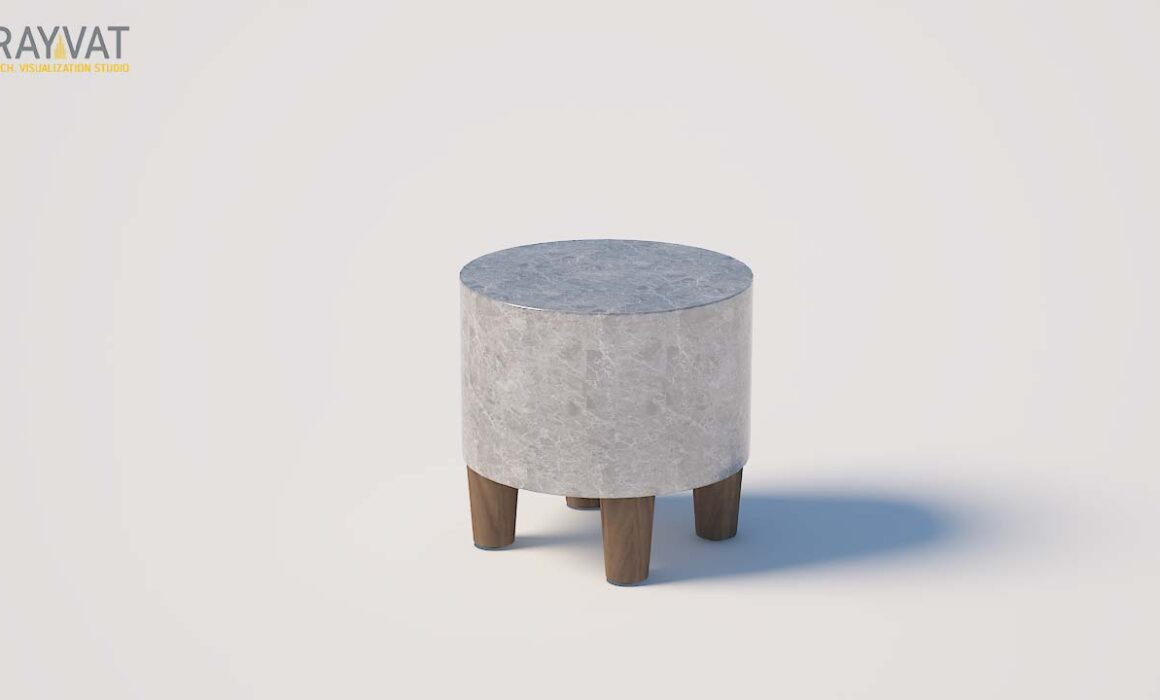 3D MODELING AND RENDERING OF SIDE TABLE – TIBURON SIDE TABLE