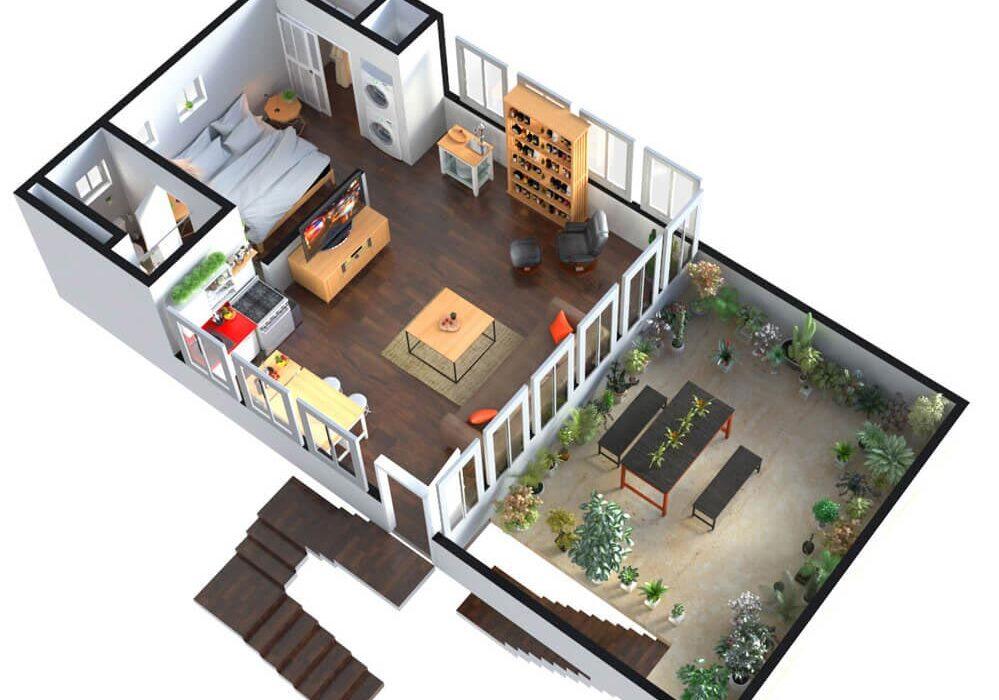 3D HOME FLOOR PLAN DESIGN – SAN FRANCISCO, CALIFORNIA
