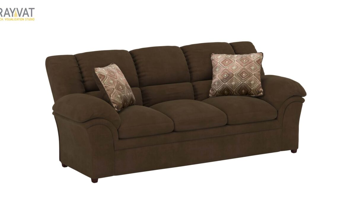 3D MODELING AND RENDERING OF LIVING ROOM SEATING – VERNON SOFA