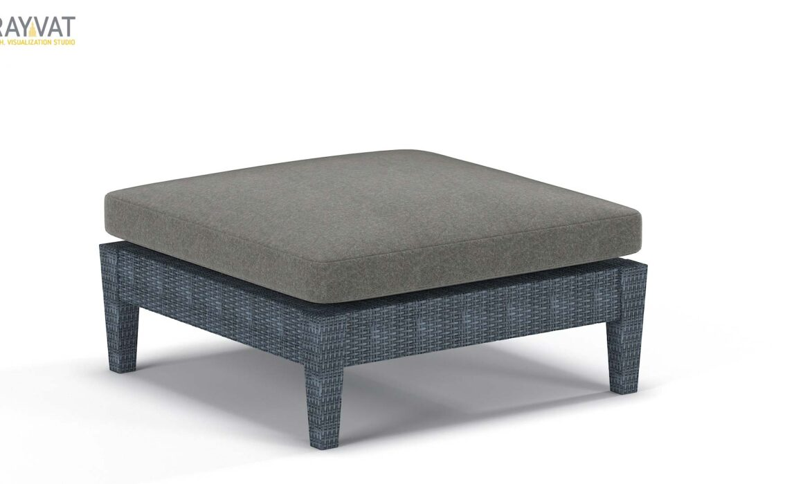 3D MODELING AND RENDERING OF FURNITURE ELEMENT – TIBURON OTTOMAN