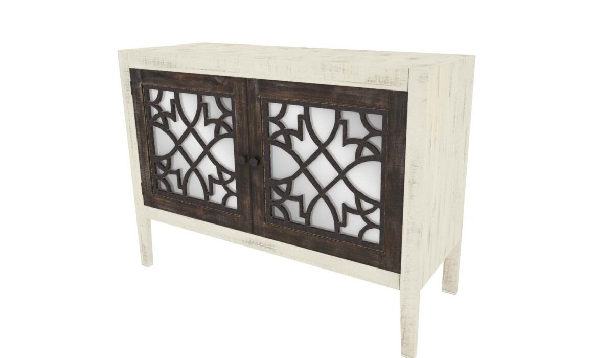 3D LUXURIOUS FURNITURE MODELING AND RENDERING – NASH CABINET WITH MIRRORS