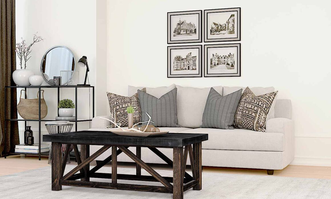3D RUSTIC WOODEN STYLE FURNITURE – SPENCER COCKTAIL TABLE