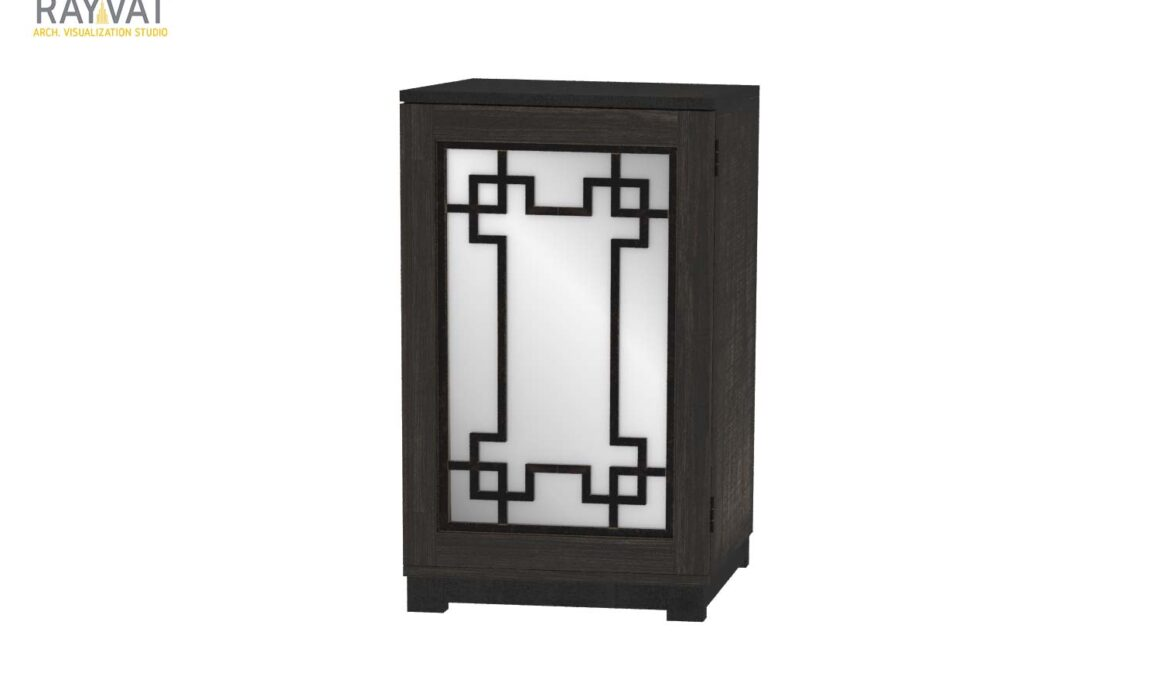 3D ELEMENT RENDERING – ASPEN GRAY ATHENS SIDE TABLE