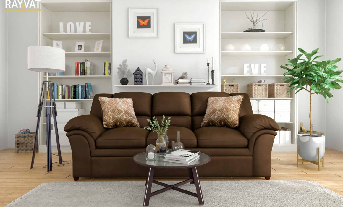 3D MODELING AND RENDERING OF FURNITURE – VERNON SOFA
