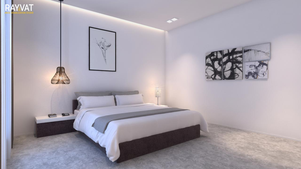 Perfectly showcase the cozy ambience of the bedroom