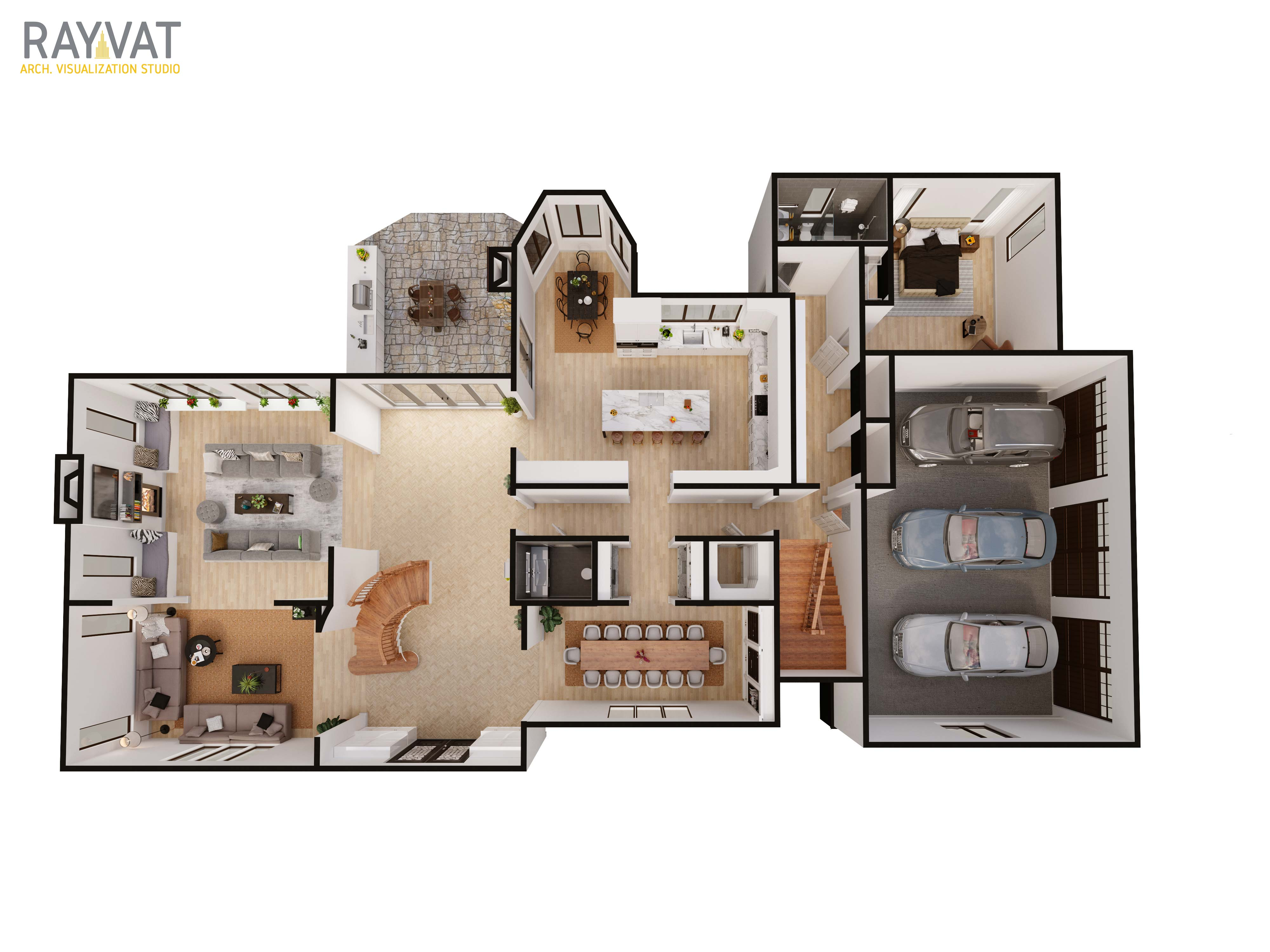 Add 2D and 3D Floor plans in the Listings