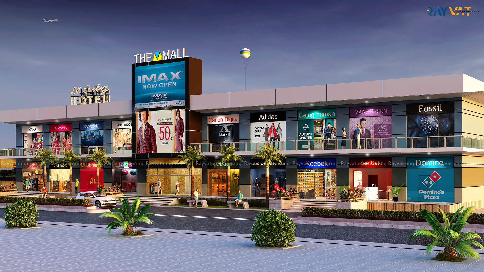 Front View The Mall Internal Project