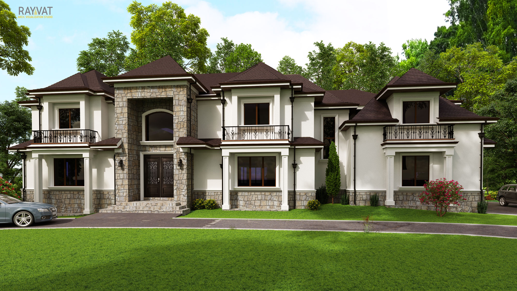 Residential Real Estate Rendering