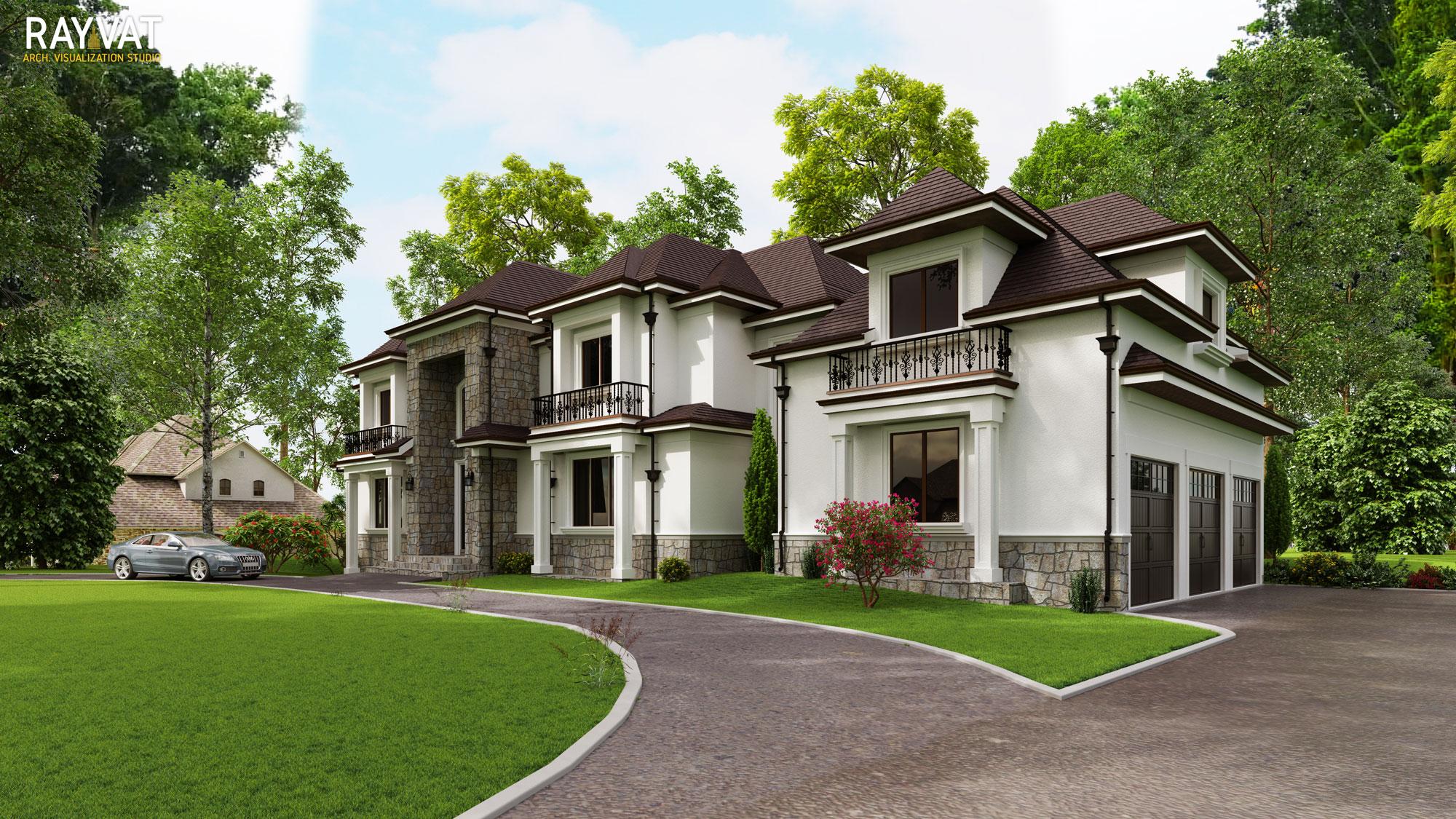 Residential Real Estate Rendering