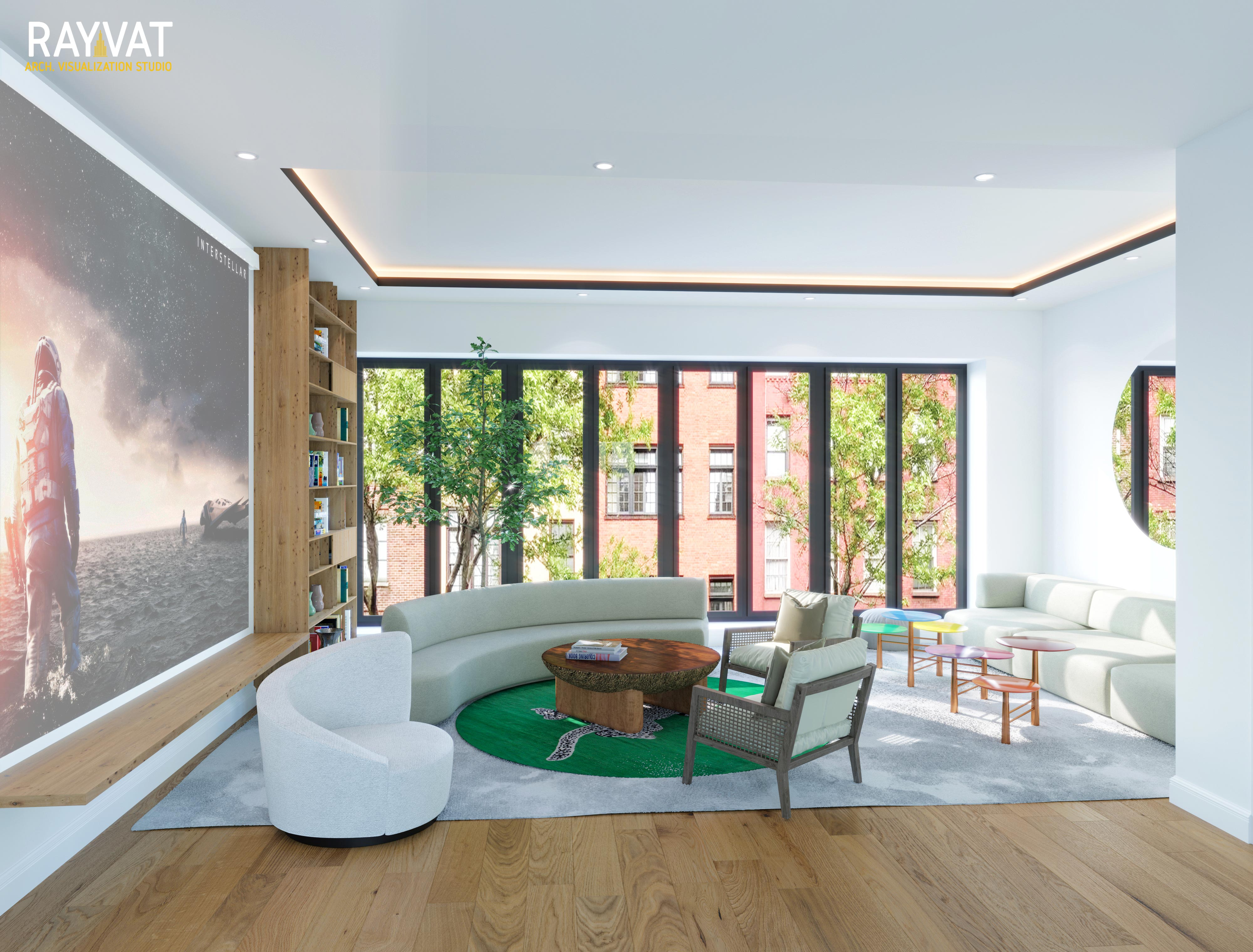 CG Images Perfectly Showcase the Formal and Informal Living Room CGI Atmosphere