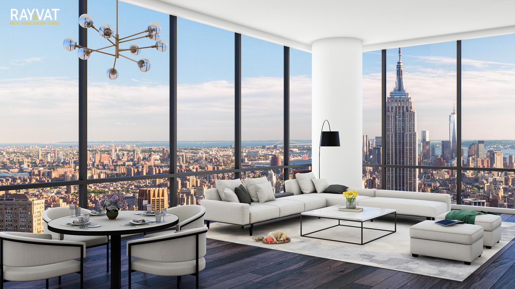 Make a Stunning Impact at Design Presentations with Living Room CGI!