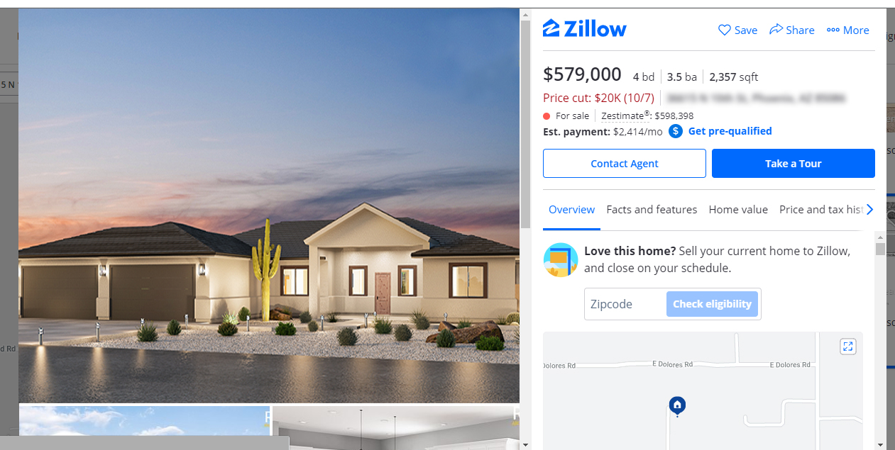 Zillow property listing