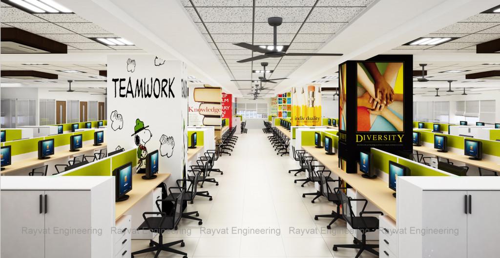 3D Office Interior Rendering California